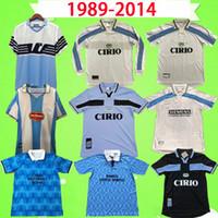 1989-2014 الرجعية Lazio Soccer Jerseys 1998 1999 2000 إيطاليا Nesta Crespo Salas Mihajlovic Inzaghi Nedved الكلاسيكية خمر لكرة القدم القمصان