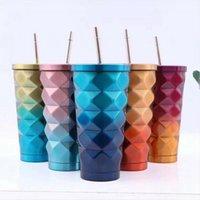 17oz بهلوان مع غطاء زجاجة مزدوجة الجدار 304 الفولاذ المقاوم للصدأ القهوة مع سترو معزول فراغ المياه الأقداح DDA511