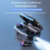 M12 TWS Kablosuz Kulaklıklar Bluetooth 5.0 Kulaklık HiFi Su Geçirmez Kulakiçi Dokunmatik Kontrol Kulaklık Spor Oyun Kulaklıklar için 2000 mAh Pil