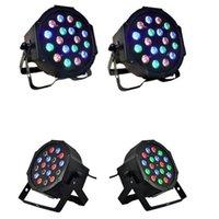 18W 18-LED RGB Fase Luz Preto Remoto / Automóvel / Controle de Som Mini DJ Bar Stage Stage Sagacidade