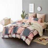 LISM Nordic simple Bedding Sets AB Side King Double Size All Season Used Single Bed Luxury Bedding Kit Duvet Cover Set