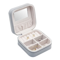 Portable Jewelry Box Jewelry Holder Leather Jewelry Case Tra...