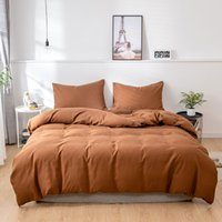 Solid Color Comforter Bedding Set Quilt Cover and Pillowcase Duvet Cover Set King Queen Size Comforter Sets