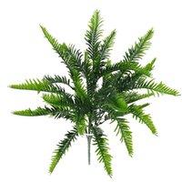 Árvore Flor arbusto da planta verde Fern Artificial Filial 7 pedúnculo plástico falso casamento Decoração Floral