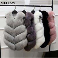 Nouveau hiver de femme en fausse fourrure Manteau de fourrure Gilet Veste 2020 Casual Solid Manteau Slim Tops Lady Gilet Plus Size