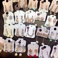 Declaración de las muchachas de regalo de las mujeres del estilo de Corea NUEVO 925 aguja de plata circón aretes de perla pendientes Valentine Epacket envío gratis