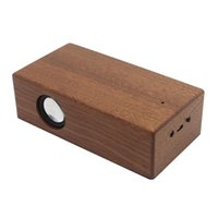 Portable Speakers Stereo Sound Loudspeaker Dual Core Mini Wireless Mobile Phone Wooden Induction Speaker Retro Outdoor Audio Home Magic Comp