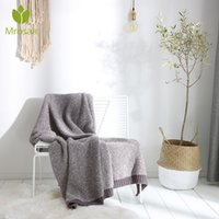 Одеяла Morosaa 130x160см Мягкий теплый полиэстер вязаное одеяло зимнее листовое покрытие дивана бросить легкие механические мытье