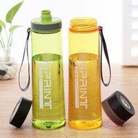 Kundenspezifische Qualitäts-BPA frei Leakproof Unbreakable bewegliche Plastikwasserflasche große Kapazitäts-Sport Klar Frosted Wasserflasche
