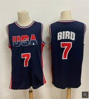 브랜드 뉴 1992 USA 팀 9 # 마이클 JD 7 # Larry Bird 8 # Pippen American Basketball Jerseys 1996 팀 Shaquille O'Neal Shirts