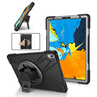 Hybrid 3 in 1 Armor Heavy Duty Stand Hand Strap Case For iPad Pro 11 10.5 9.7 2018 2 4 5 6 Mini Mini5 Samsung P200 T510 T720 T590 T290 T830