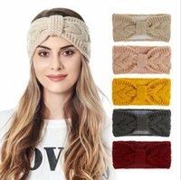 Adulti Turbante fascia Primavera Solid maglia Hairband femminili Earmuffs trucco fasce fasce elastico dei capelli dei capelli Accessori di moda LSK1230