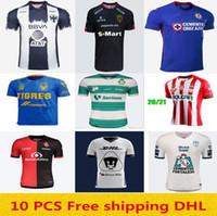 شحن مجاني 2020 2021 Laguna Chivas Tigres Uanl Cruz Azul Soccer Jersey 20 21 Puebla FC Pachuca CF كرة القدم قميص الحجم S-XXL