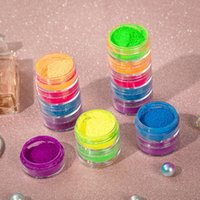 Newest Neon Makeup Eyeshadow 6colors in 1 set Neon Eye Shadow Powder Beauty Eye cosmetics 12
