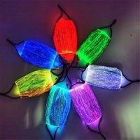 Noel Partisi Festivali Masquerade Rave için sıcak Bahçe 7 Renk Parlak LED Yüz Maskesi Moda Parlayan Maske