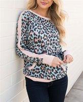 Camouflage Mode Sweatshirts Luxe Imprimer Womans manches longues Pulls desserrées vêtements Womans Casual Designer Womans Leopard