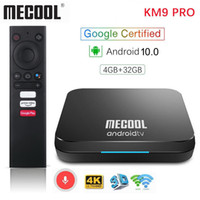 Mecool KM9 Pro ATV 4G 32G Android 10.0 TV Box Google 인증 Amlogic S905X2 2.4G / 5G WiFi AndroidTV 10.0 스마트 TV 박스