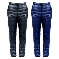 Открытые брюки вниз лыжные лыжи кемпинг Пешие прогулки ветрозащитный дно зимние теплые брюки для мужчин размер S-5XL