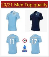 20/21 LAZIO # 17 Immobile Soccer Jersey 2020 Latium # 21 Sergej # 7 Kishna Soccer Hemd # 6 Lucas # 10 Luis Alberto Custom Football Uniform