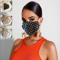 Yaz İnce toz geçirmez Nefes Yıkanabilir yetişkin Maske YYA307-2 yeniden kullanılabilir Avrupa Amerikan Popüler Tasarım Maskeler Sequins Yüz Maskesi Bling