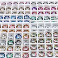 Andere Zhubi Großhandel Große Loch Spacer Perle 8/10 / 14mm Kristallglas Lose Charms Runde AB Für Schmuck Machen Armband DIY