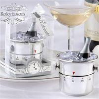 5PCS Outils de cuisine Champagne seau à glace Kitchen Party Timers Favors Faveurs de mariage Cadeaux d'anniversaire de l'événement retour des idées actuelles