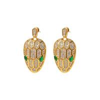 Fashion Kupfer-Bolzen-Ohrringe für Frauen-echtes Schmucksache rosafarbenen Gold / Silber / Gold-Liebesohrring-Emaille-Party-Geschenk