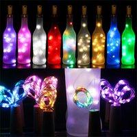 1M 10LED 2M 20LED lampada a forma di sughero del tappo della bottiglia Luce Wine Glass LED filo di rame luci della stringa per il partito di natale sposa di Halloween Nuovo F91402
