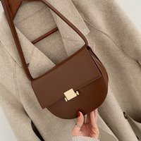 Saddle Bag for Women 2019 Green Solid Color Leather Crossbod...