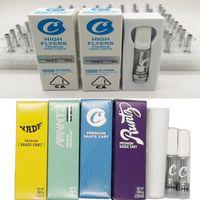 Çerezler Vape Kartuşları Vaporizer High Flyers Yeni Kutuları Kartuşları Packaging Seramik Bobin 510 Konu Vape Arabaları 0.8ml 1.0ml E Cigs Atomizörlerin