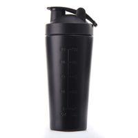 Acero inoxidable proteína Botella Botella vibrante Gimnasio Shaker Deportes Batido de proteína de suero Blender agua aptitud Sin BPA