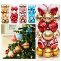Palle di Natale Alberi di Natale ornamenti palle 6cm luce brillante palle 24 Painted Christmas Ball Decorazioni di XD23949