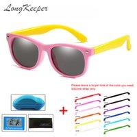 النظارات الشمسية الطوابق الاطفال الاستقطاب مع سيليكون حزام tr90 الفتيان الفتيات نظارات الشمس نظارات السلامة للأطفال uv400