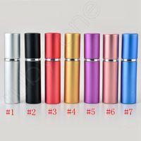 5ml botella de perfume Mini portátil recargable de aluminio con spray de maquillaje Vaciar recipientes con atomizador Para RRA3607 viajeros