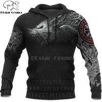 PLstar Cosmos Viking Guerrier Tattoo Nouveau mode casual Survêtement 3D Imprimer Zipper / Sweat / Sweat-shirt / veste / femmes style 49 Hommes