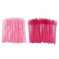 1000Pcs Disposable Mascara Wands Eyelash Brushes Applicator Makeup Tool Portable Rose Red Pink Handle Eyelashes Extension Tools