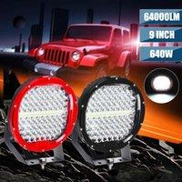 Arbeitslicht 9inch 640W Runde 12V LED-Fahrarbeiten für 4x4 Offroad-Lkw-Boot 4WD SUV ATV-Auto 24V Außenleuchten freie Abdeckung