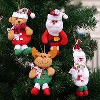 Arbre de Noël Ornement accrochant Cartoon Père Noël bonhomme de neige Ours Pendentif de Noël Décoration de Noël Accueil Décorations festives RRA3552