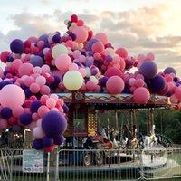 Decorazione del partito Big Big 36 pollici Balloon Balloon Purple Rosa Bianco Arancione Blu Aerostato Balloons Balloons Balloons 5inch 10inch Piccolo elio Ballon