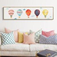 Pintura cielo globo de aire caliente SEGURO DE VIDA moderna impresión de carteles pared de la lona de arte Cuadros para la habitación de los niños habitaciones en las decoraciones