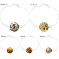 سحر أساور للنساء هدية الزفاف البرية البجعات قصة الزجاج كابوشون مجوهرات مع الفضة مطلي سوار الإسورة
