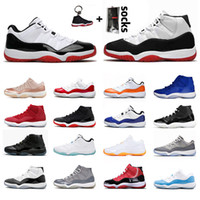 Schuhe Frauen Männer air jordan 11 2020 LOW WMNS CONCORD retro 11 jordans 11s New Mens Womens Basketball Shoes XI 2019 Bred High Jumpman 23 Cap and Gown Space Jam Sneakers