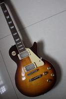 Custom Factory Wholesale Direct Ventas LP Slash Guitar Vs Sunburst Retro Brown Rosewood Diapasón de la caoba de la caoba de una pieza Cuerpo
