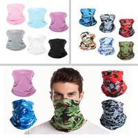 Güneş UV Koruma Yüz Maskesi Boyun Gaiter Rüzgar Geçirmez Eşarp Sunscreen Nefes Bandana Spor Açık Camo Başörtüsü Parti Maskesi HH9-3321