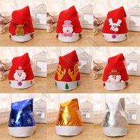 عيد الميلاد القبعات للحصول على هدايا عيد الميلاد الكبار الطفل الحلي غطاء الرأس مع أضواء متوهجة سانتا القبعات DHL شحن مجاني