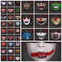 Hallowmas Scary Face Mask РМ2,5 пыле Забавный клоун черепа Маски моющийся против пыли печати Дизайнер Маски 36styles RRA3581