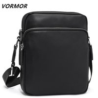 VORMOR Famous Brand Leather Men Bag Casual Business Messenger Bag For Vintage Mens Crossbody Bag Male Shoulder Bags bolsas