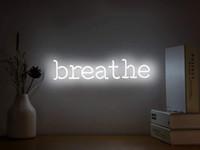 네온 간판은 빛 조명 네온 벽에서 벽 침실 룸 파티 무료 배송 화이트 네온 빛을 가입 단어를 걸려 호흡