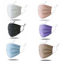 Красочные сетки Маски Bling Алмазная маска партии Rhinestone Сетка Чистая Маска моющийся Sexy Hollow маска для женщин BWB1905