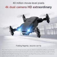 RC Gift UAV 4K Двойная камера Пульт дистанционного управления воздушным управлением Четыре RC Helicopte HD Воздушная белая фотография Радиоуправляемый Дрон Электрическая оси Toy VXWG
